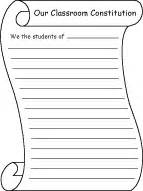 Class Constitution Template write a classroom constitution or bill of rights enchantedlearning