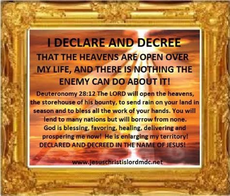prayers and declarations for the of god confront strongholds and stand firm against the enemy books www jesuschristislordmdc net i declare decree an open