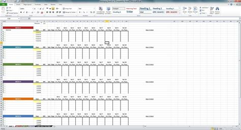 employee personnel file template excel employee training