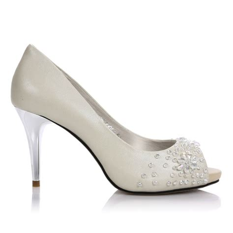 Offene Hochzeitsschuhe by White Wedding Pumps Www Imgkid The Image Kid Has It