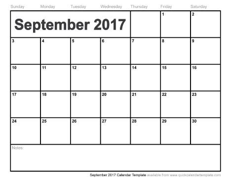 september 2017 calendar pdf   weekly calendar template