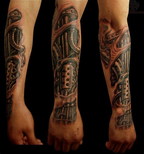 tattoo for arms bio mechanical for arm