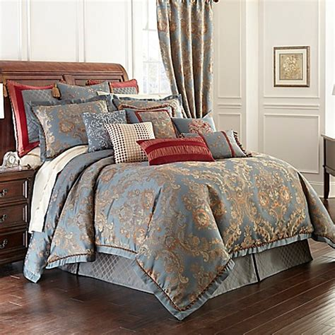 waterford bedding waterford 174 linens dunham reversible comforter in glacier www bedbathandbeyond