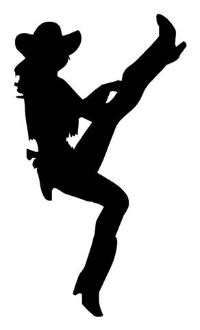 cowgirl silhouette 2 decal sticker