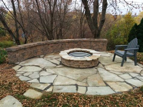 outside fire pits for patios ideas firepit flagstone patio