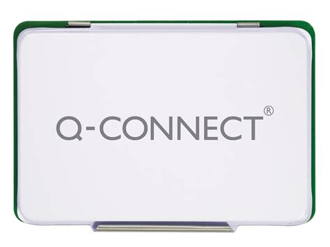 q connect large st pad metal case 126x81mm green q connect