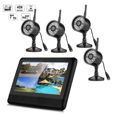 wireless outdoor 4x cctv home security system 7