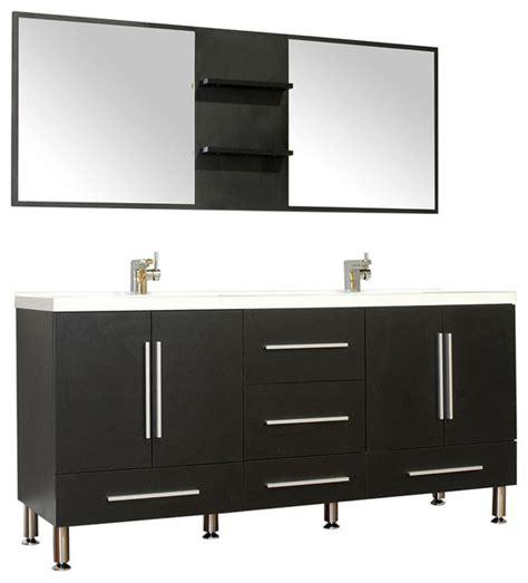 Black Bathroom Vanity Units by 67 Quot Modern Bathroom Vanity Black Modern