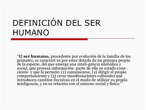 la historia y el ser humano definici 243 n ser humano