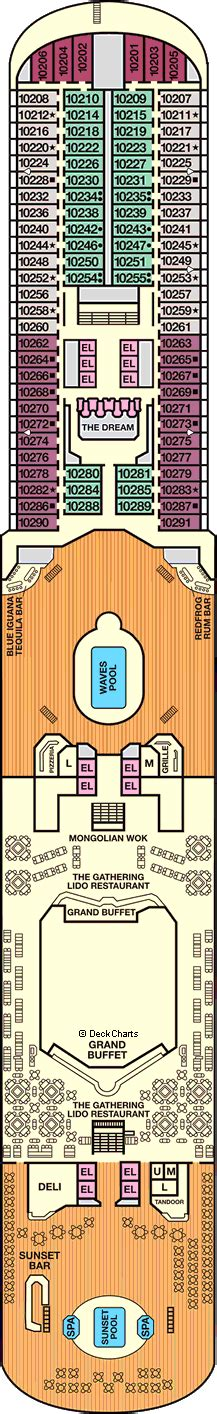 carnival dream deck 10 plan cruisemapper carnival dream cruise ship deck plans on cruise critic