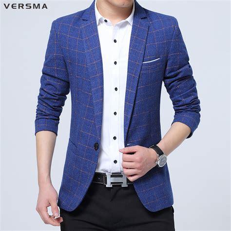 Slim Fit Atasan Formal Casual O Black Ot Kaos T Shirt Pria versma 2017 summer polyester blazer casual plaid blazer for slim fit blazers