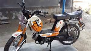 Ktm B Tvs Moped Modified Into Duke 200 Xl100 Launched Pics