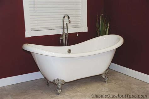double bathtub 69 quot acrylic double ended slipper clawfoot tub classic