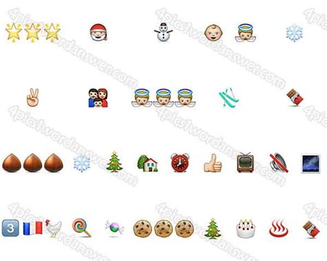 printable christmas emoji quiz 100 pics christmas emoji answers 4 pics 1 word game