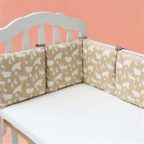 baby crib cot bumper infant toddler bed protector pillow