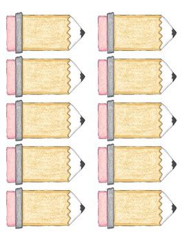 Blank Pencil Labels Template By Carrie S Classroom Cottage Tpt Pencil Label Template