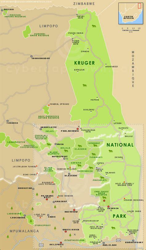 kruger national park map kruger national park kruger national park map of south