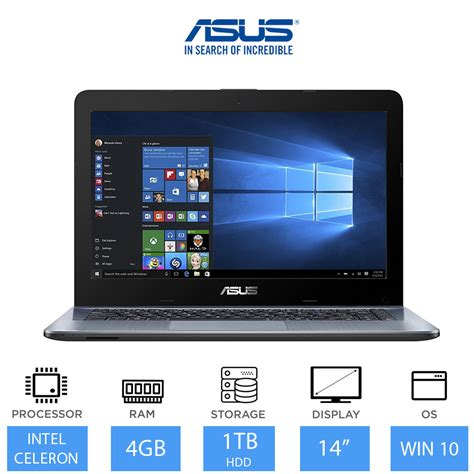 Laptop Asus Multimedia asus vivobook max 14 inch multimedia laptop intel dual n3060 4gb ram 1tb ebay