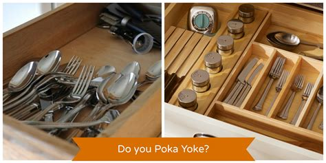 Custom Kitchen Drawer Organizers - do you poka yoke we do and bet you do too