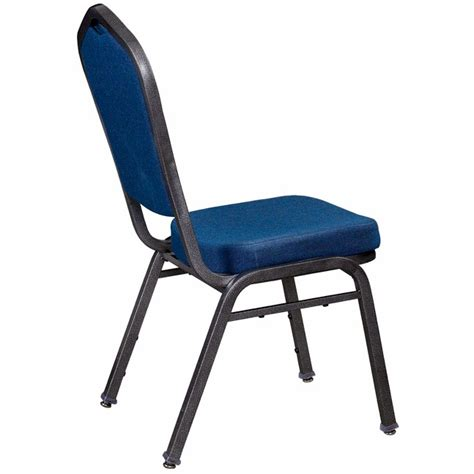Premium Chairs by Premium Metal Stack Chair With Blue Fabric