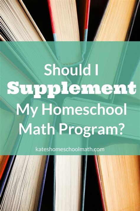supplement math should i supplement my homeschool math program