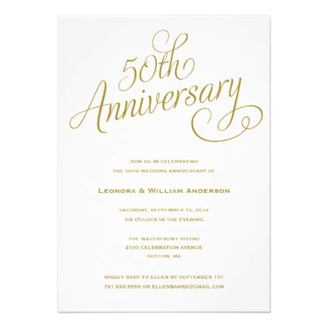 50 anniversary invitations templates 50th wedding anniversary invitations