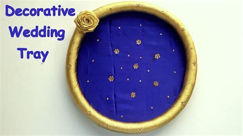 DIY   How to make decorative wedding tray/plate
