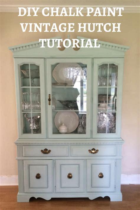 Country Themed Kitchen Ideas diy chalk paint vintage hutch tutorial love amp zest