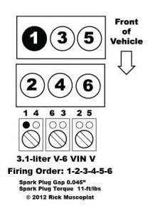 3 1 v 6 vin v pontiac firing order ricks free auto repair advice ricks free auto repair advice