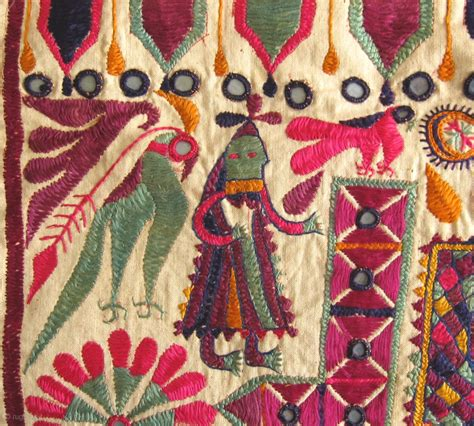 Anatolian Rug Antique Folk Art Embroidered Textiles From Gujarat India