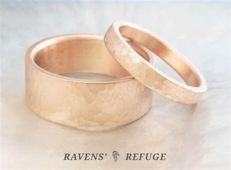 Handmade Gold Wedding Bands - handmade gold wedding bands textured gold wedding