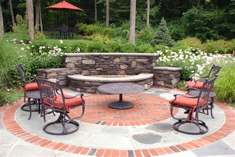 Custom Outdoor Backyard Fire Pit Ideas Landscaping Curved Backyard Pit Ideas Landscaping
