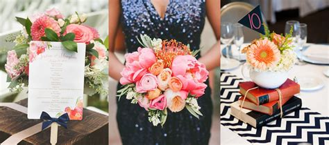 navy and coral wedding ideas navy and coral wedding inspiration dovetail uk wedding