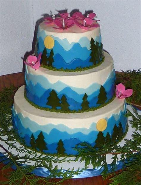 Wedding Cake Mountain by Mountain Wedding Cake Cakecentral