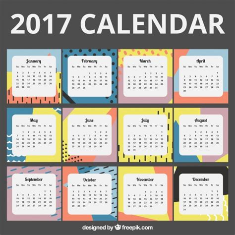 design kalender vektor 2017 kalender in abstrakten design download der
