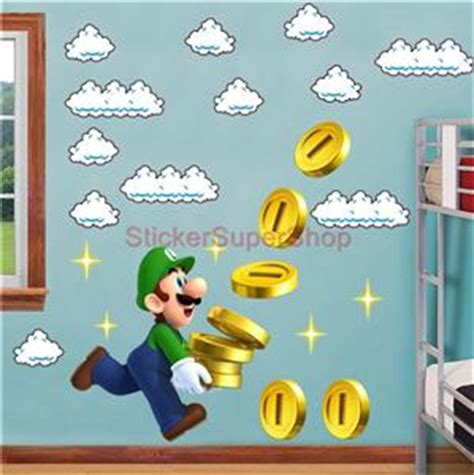 Tokomonster Mario Wall Decal Sticker Size 23 Inch mario bros clouds set decal removable wall sticker