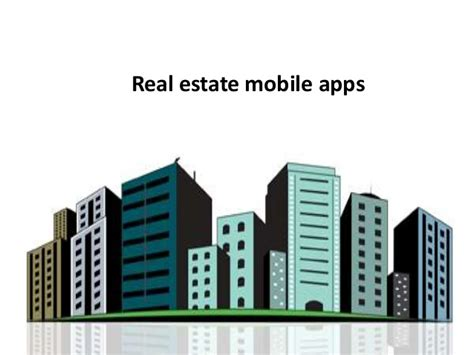 real estate mobile apps