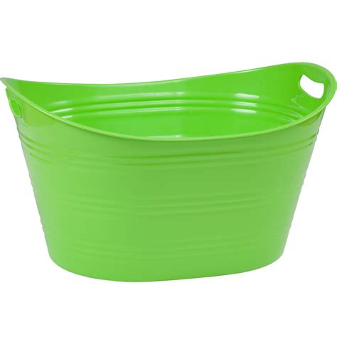 green bathtub plastic beverage tub in storage tubs and buckets