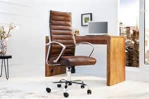 chaise de bureau fauteuil microfibre caf 233 antique design