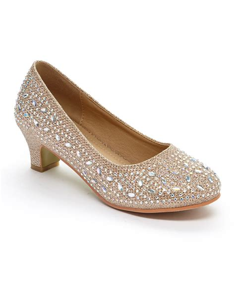 high heel shoes for children adorababy chagne rhinestone dressy shoe