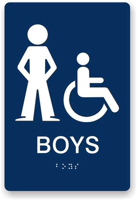 boys bathroom sign ada braille boy s restroom sign