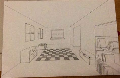 fluchtpunkt zimmer zeichnen room drawing