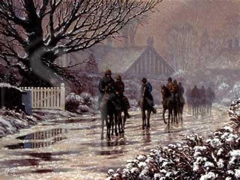 race horses  snow pack   christmas cards  thaw begins