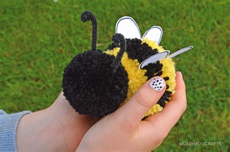 the shiny bee who felt out of place conscious volume 1 books mollymoocrafts pom pom craft how to make a pom pom bee