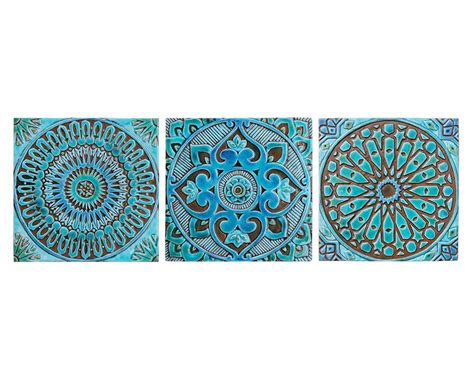 ceramic tile set of 3 decorative wall tile tiles by myinsight set of 3 wall hangings made from ceramic ceramic tile