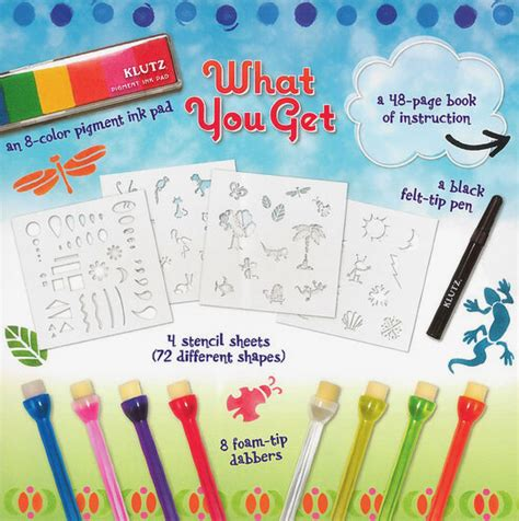 Klutz Stencil Book Kit by Use Klutz Stencil Book Kit To Make Shapes With