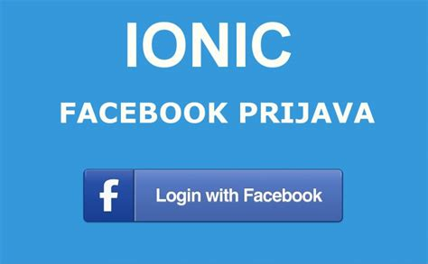 ionic tutorial facebook login ionic 3 facebook prijava tomislav stanković