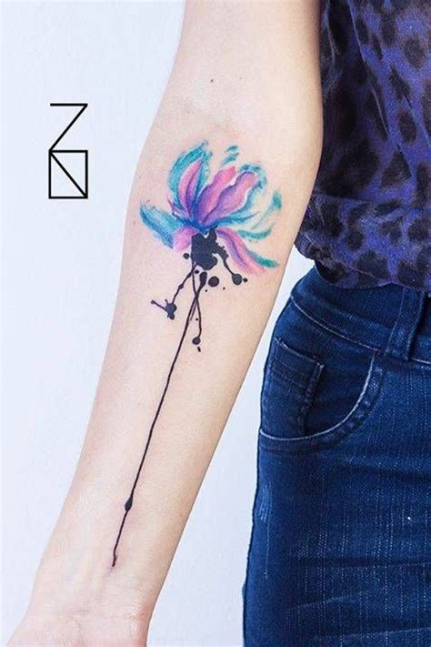 watercolor tattoos chicago cutelittletattoos watercolor style lotus flower