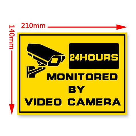new warning security signs window stickers cctv