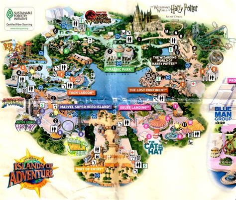 universal studios orlando adventure island park map universal studios florida islands of adventure